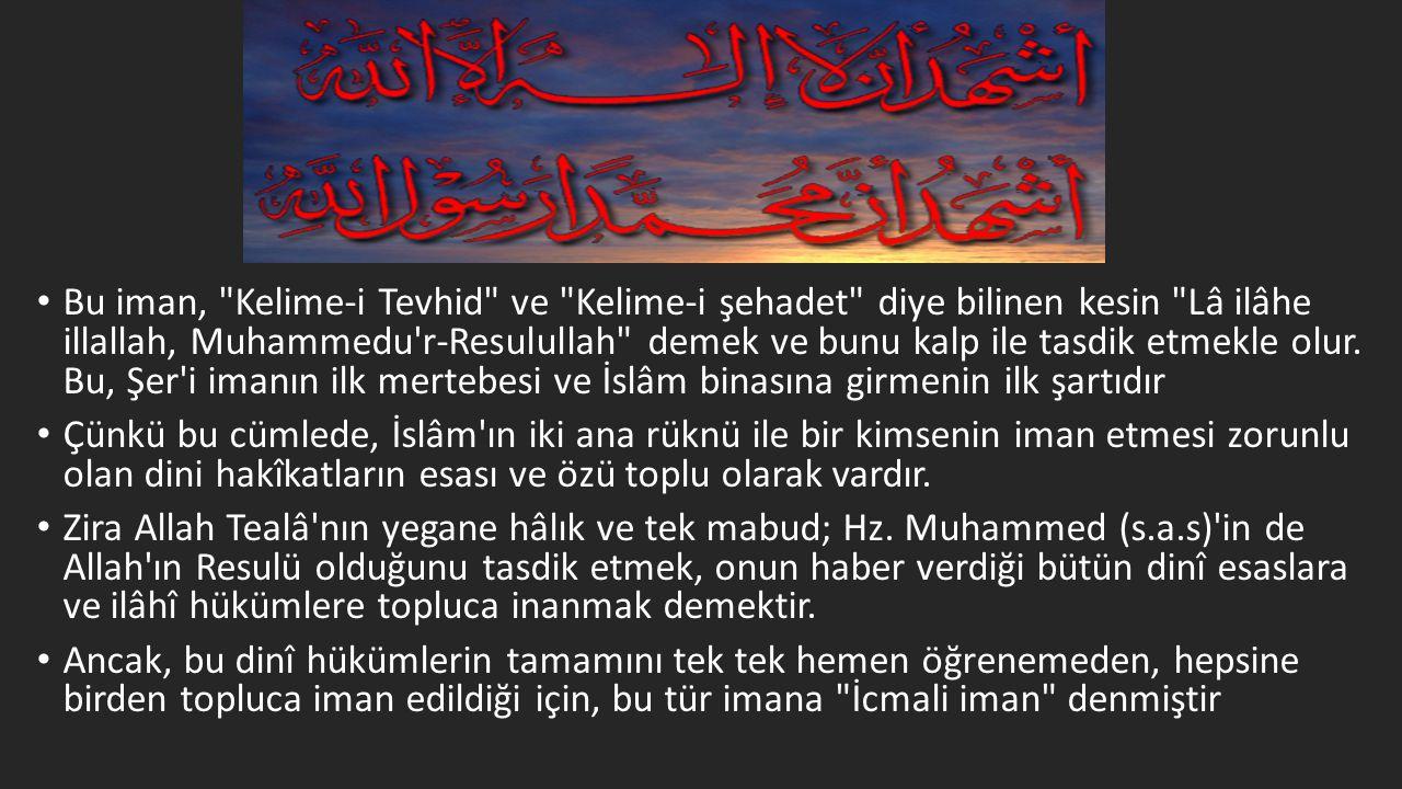 • Bu iman,
