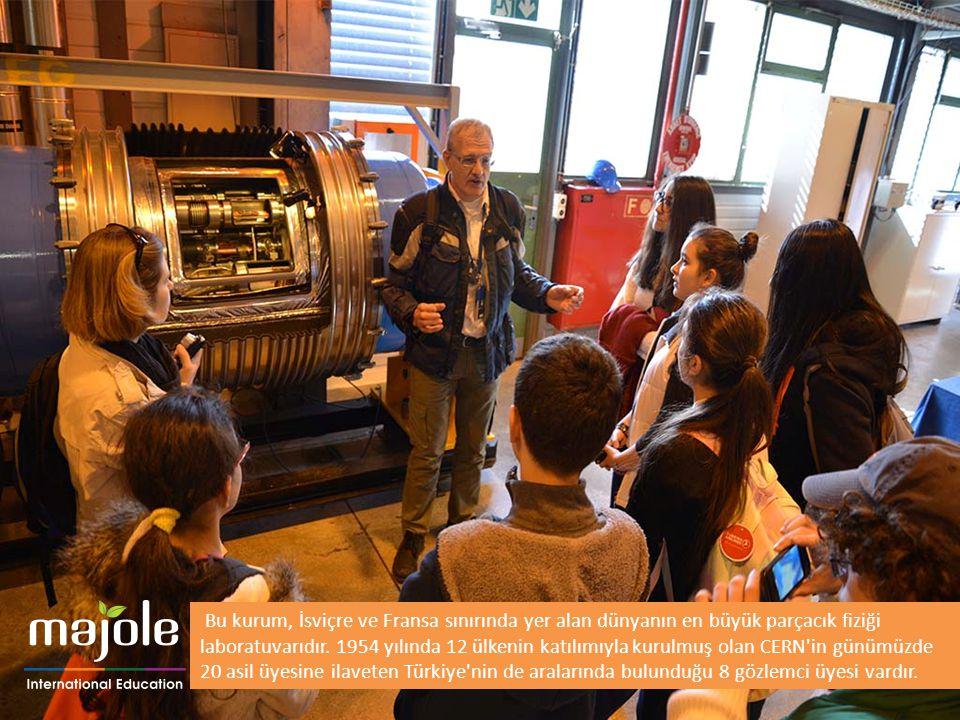 Bu kurum, İsviçre ve Fransa sınırında yer alan dünyanın en büyük parçacık fiziği laboratuvarıdır. 1954 yılında 12 ülkenin katılımıyla kurulmuş olan CE