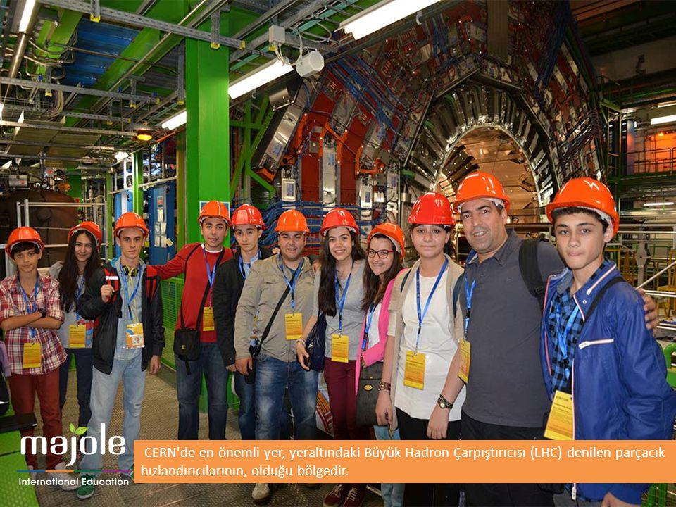 CERN'de en önemli yer, yeraltındaki Büyük Hadron Çarpıştırıcısı (LHC) denilen parçacık hızlandırıcılarının, olduğu bölgedir.
