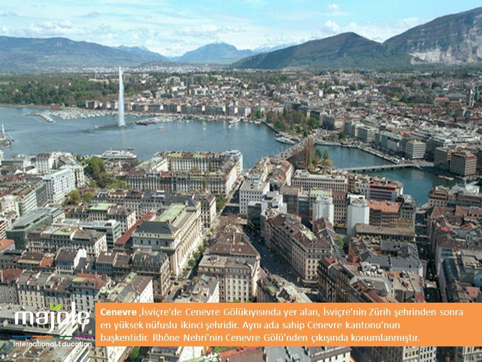Cenevre,İsviçre'de Cenevre Gölükıyısında yer alan, İsviçre'nin Zürih şehrinden sonra en yüksek nüfuslu ikinci şehridir. Aynı ada sahip Cenevre kantonu