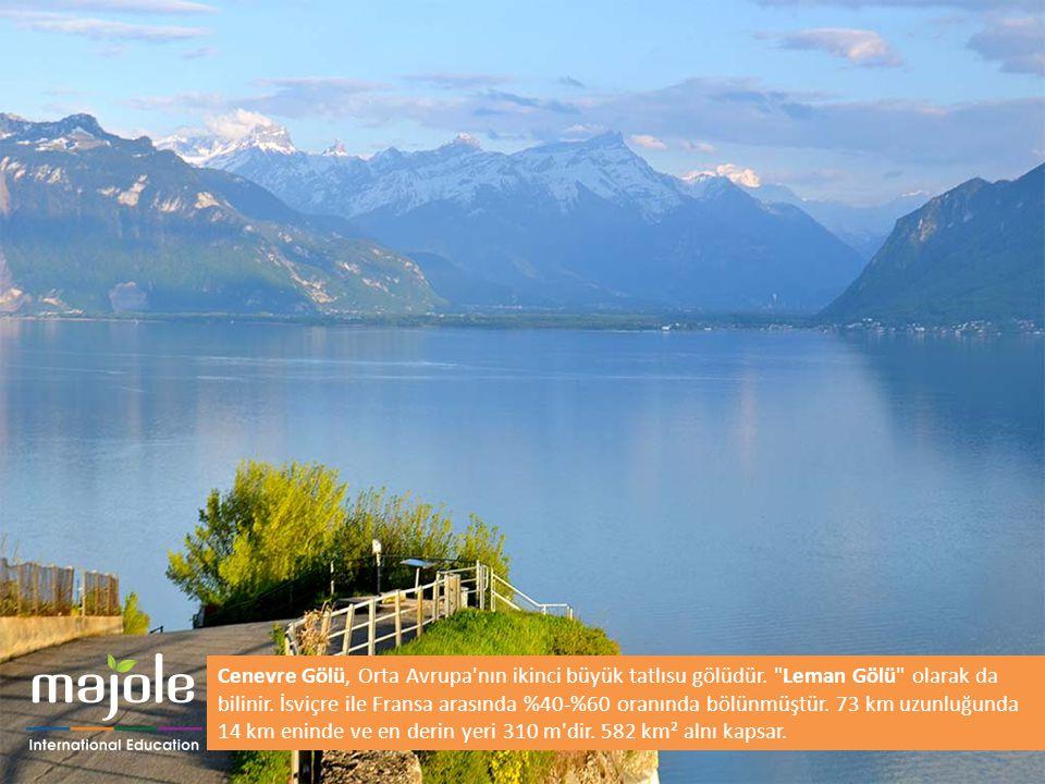 Cenevre Gölü, Orta Avrupa'nın ikinci büyük tatlısu gölüdür.