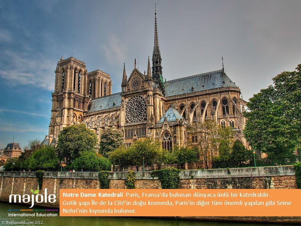 Notre Dame Katedrali Paris, Fransa'da bulunan dünyaca ünlü bir katedraldir. Gotik yapı Île de la Cité'in doğu kısmında, Paris'in diğer tüm önemli yapı