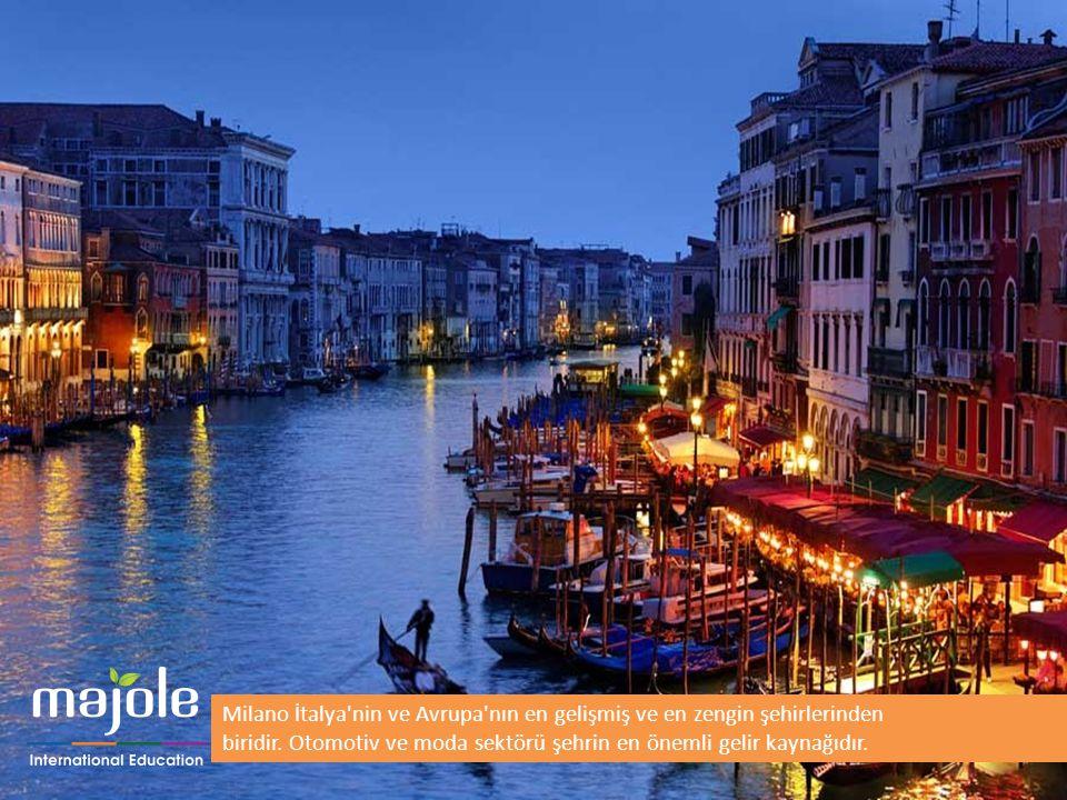 Milano İtalya'nin ve Avrupa'nın en gelişmiş ve en zengin şehirlerinden biridir. Otomotiv ve moda sektörü şehrin en önemli gelir kaynağıdır.