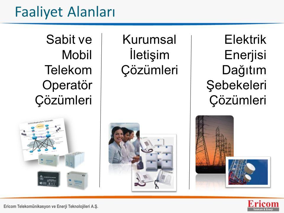 Faaliyet Alanları Sabit ve Mobil Telekom Operatör Çözümleri Kurumsal İletişim Çözümleri Elektrik Enerjisi Dağıtım Şebekeleri Çözümleri