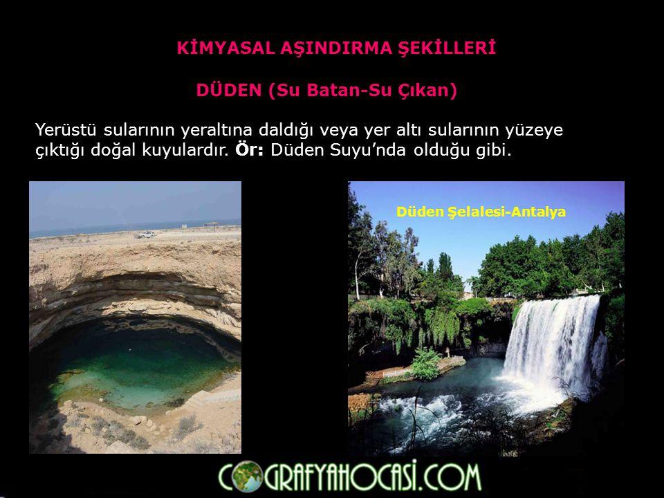 MAĞARA Kalkerli arazilerde yer altı sularının kimyasal aşındırması ile oluşan yeraltındaki boşluklardır.