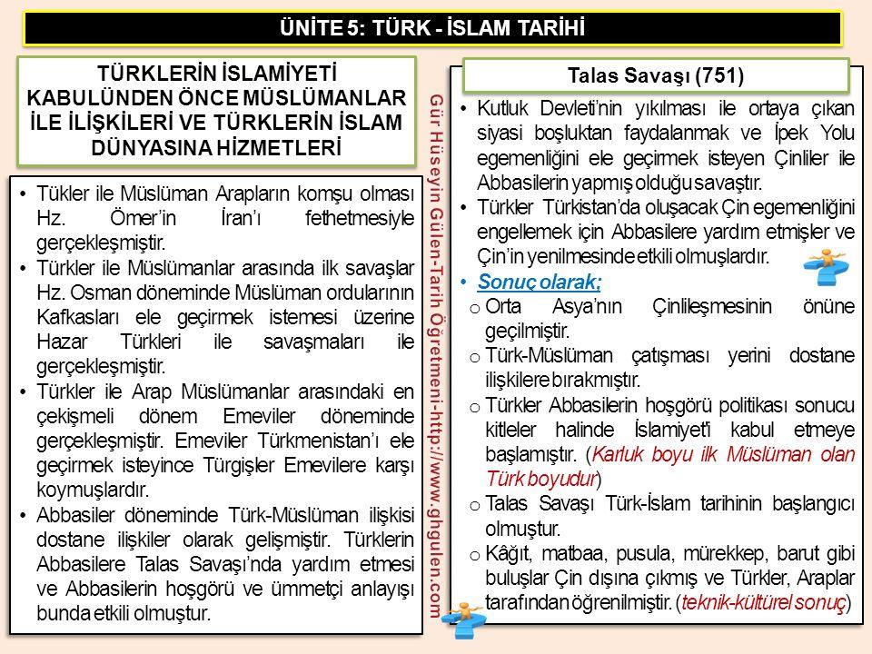 •Tükler ile Müslüman Arapların komşu olması Hz. Ömer'in İran'ı fethetmesiyle gerçekleşmiştir. •Türkler ile Müslümanlar arasında ilk savaşlar Hz. Osman