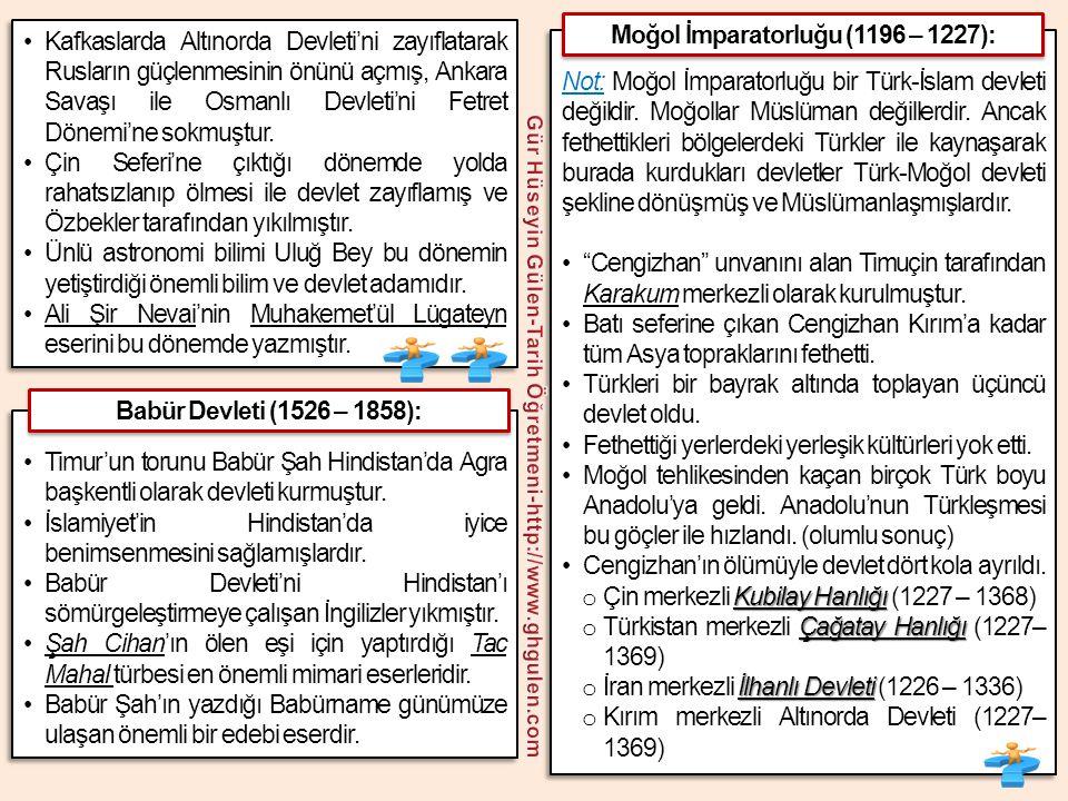 •Kafkaslarda Altınorda Devleti'ni zayıflatarak Rusların güçlenmesinin önünü açmış, Ankara Savaşı ile Osmanlı Devleti'ni Fetret Dönemi'ne sokmuştur. •Ç
