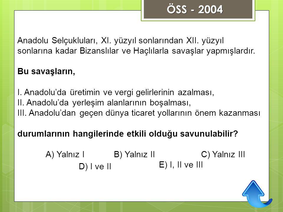 Anadolu Selçukluları, XI. yüzyıl sonlarından XII. yüzyıl sonlarına kadar Bizanslılar ve Haçlılarla savaşlar yapmışlardır. Bu savaşların, I. Anadolu'da