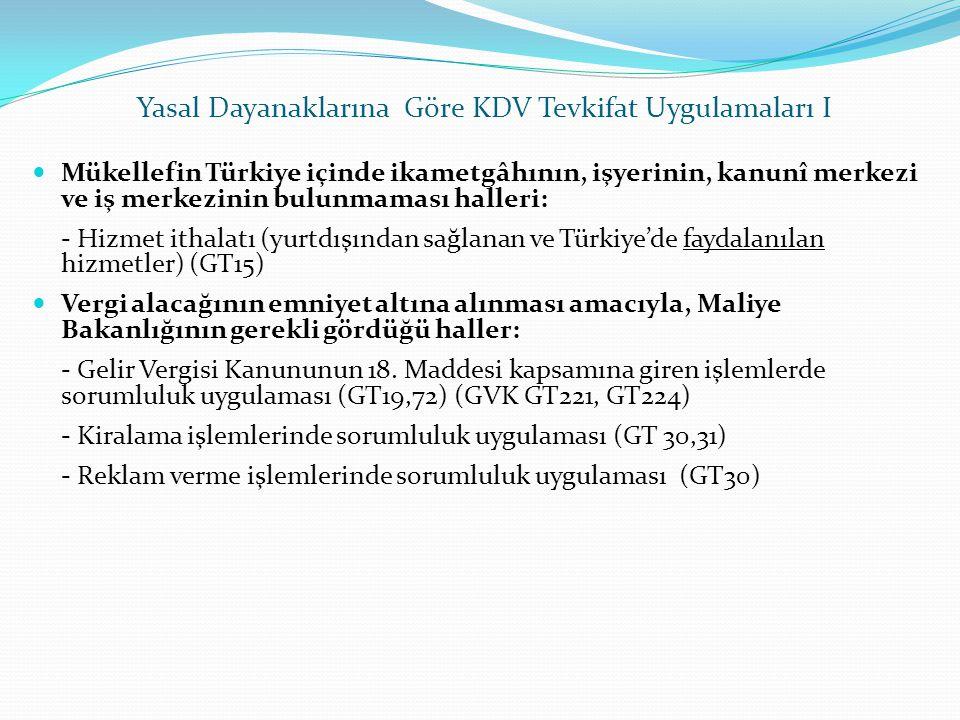 Yasal Dayanaklarına Göre KDV Tevkifat Uygulamaları I  Mükellefin Türkiye içinde ikametgâhının, işyerinin, kanunî merkezi ve iş merkezinin bulunmaması