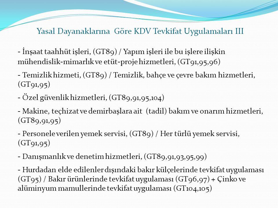 - İnşaat taahhüt işleri, (GT89) / Yapım işleri ile bu işlere ilişkin mühendislik-mimarlık ve etüt-proje hizmetleri, (GT91,95,96) - Temizlik hizmeti, (