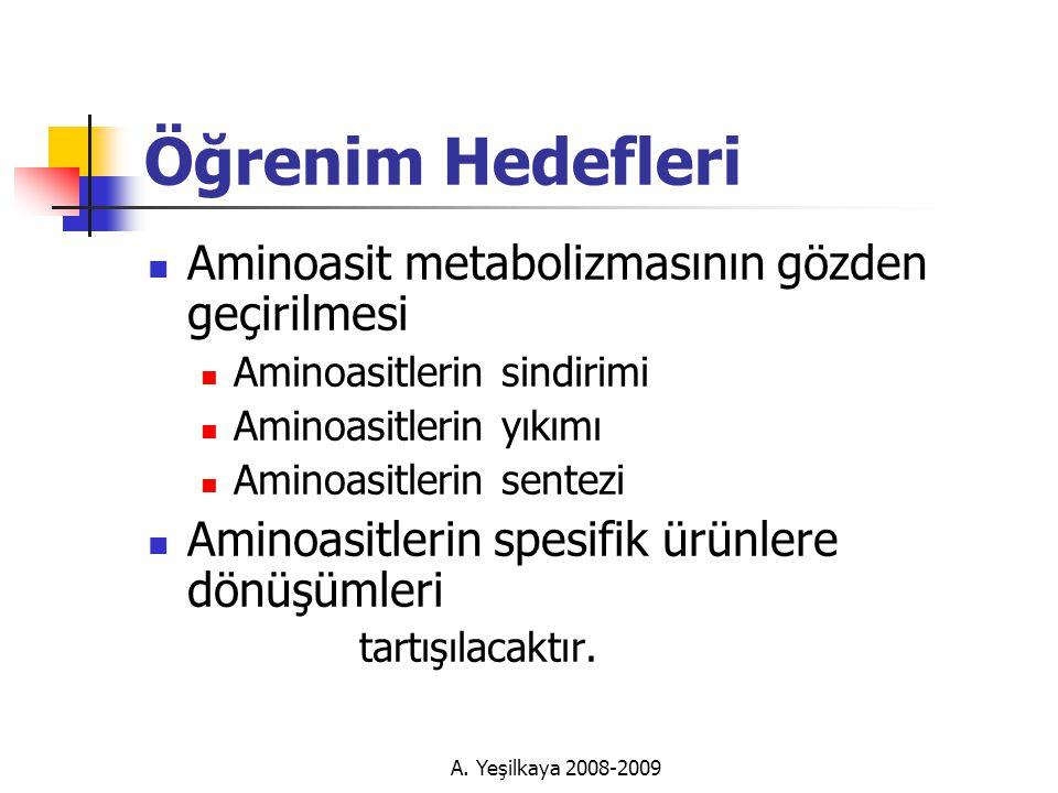 A. Yeşilkaya 2008-2009 Fenilalanin ve Tirozin  Melanin  Albinizim