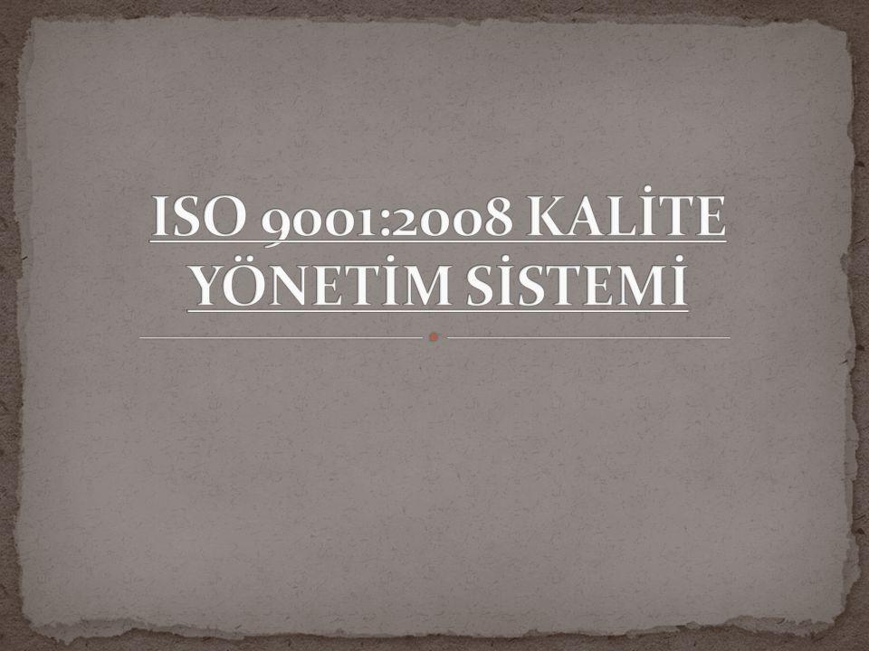 ISO nun tanımı : ISO International Organization for standardizasyon un kısa yazılışıdır, yani uluslararası standardizasyon örgütünün oluşturduğu bir kalite yönetim standardıdır.