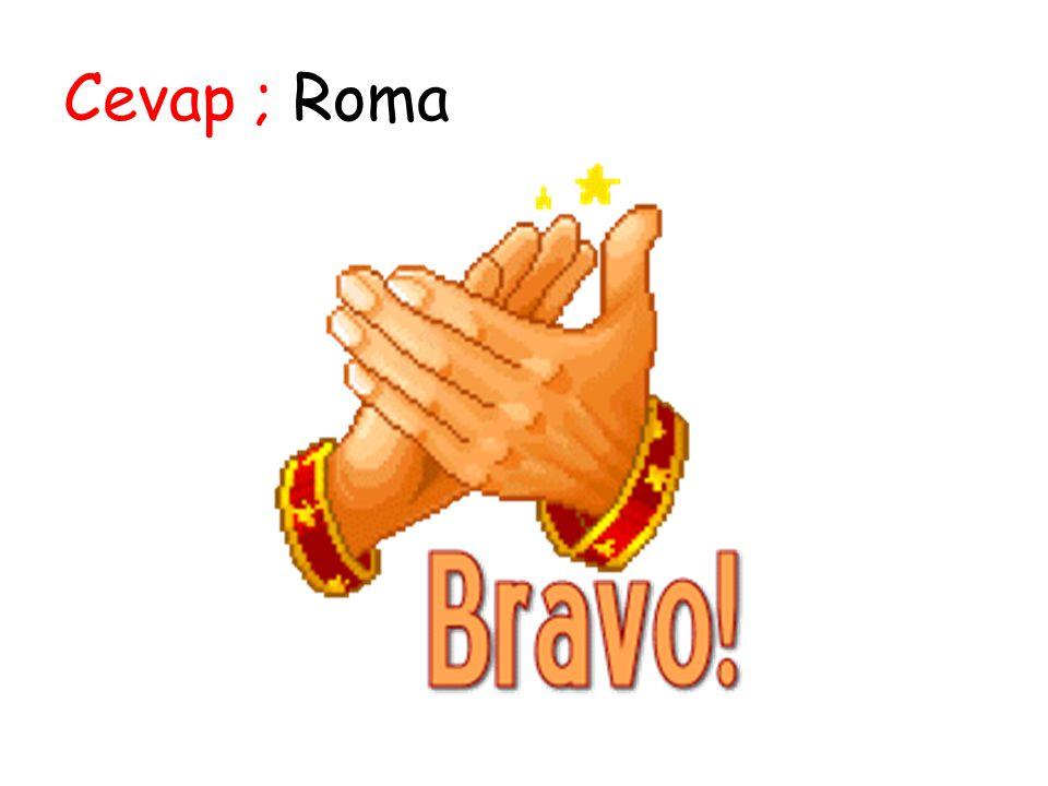 Cevap ; Roma