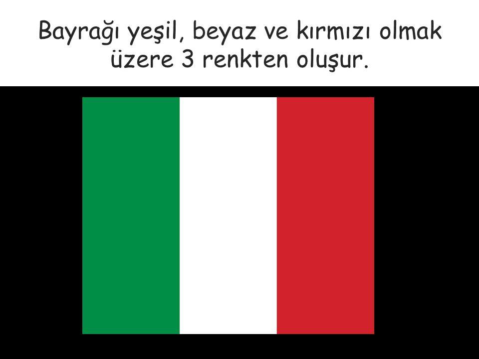 Bayrağı yeşil, beyaz ve kırmızı olmak üzere 3 renkten oluşur.