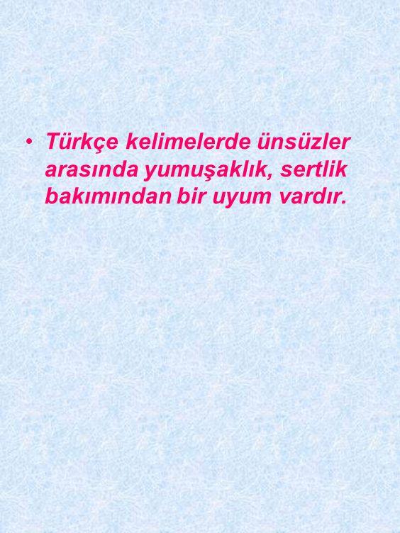 TÜRKÇENİN SES ÖZELLİKLERİ •Türkçenin seslerle ilgili en önemli özelliği büyük ve küçük ünlü uyumlarının varlığıdır.