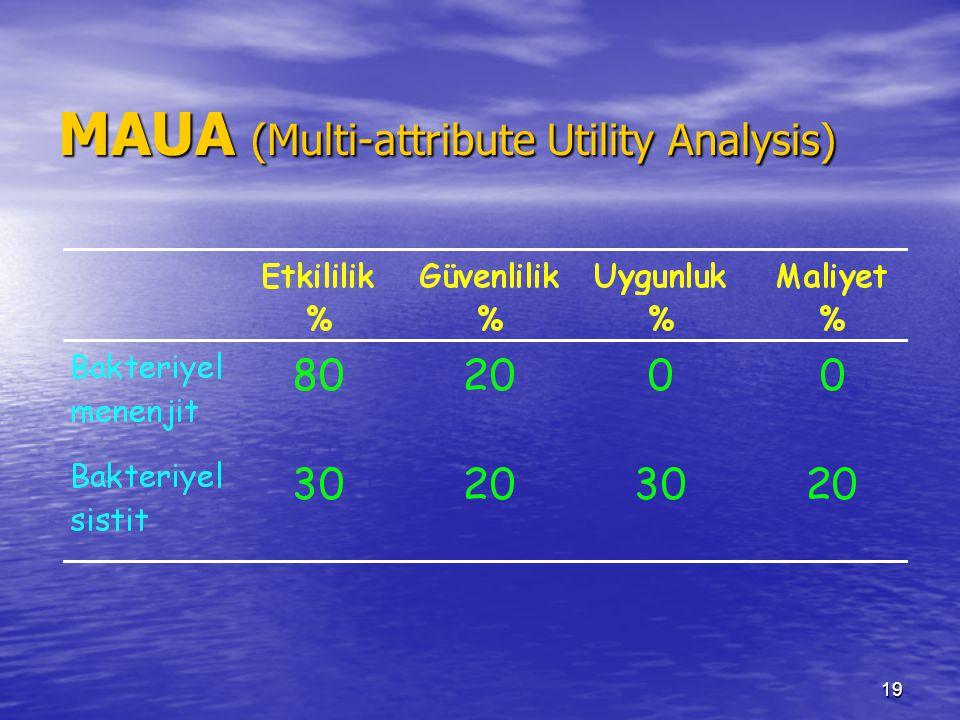 19 MAUA (Multi-attribute Utility Analysis)