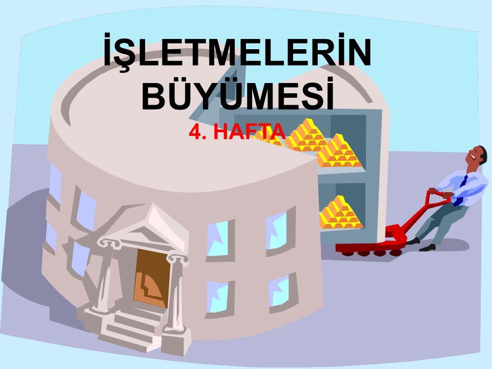İŞLETMELERİN BÜYÜMESİ 4. HAFTA