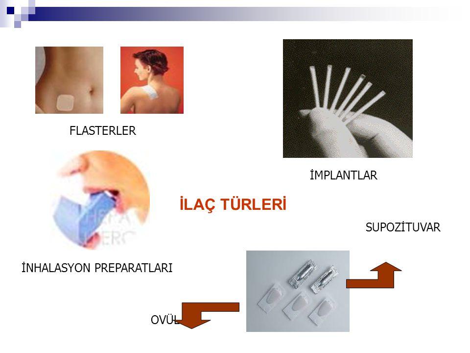 İLAÇLARIN UYGULANMA YOLLARI  Ağız yoluyla (Oral) Uygulama  Enjeksiyonla Uygulama  Dilaltı (sublingual) Uygulama  Rektuma Uygulama  İnhalasyon Yoluyla Uygulama  L Lokal Uygulama