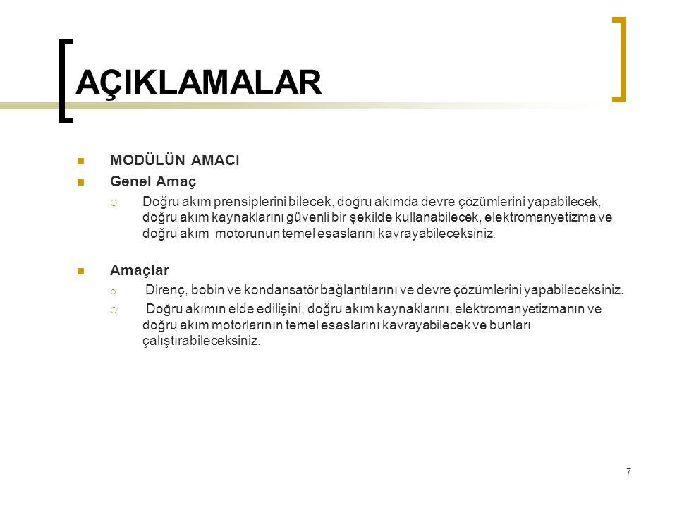2.DC KAYNAKLAR  2.5.
