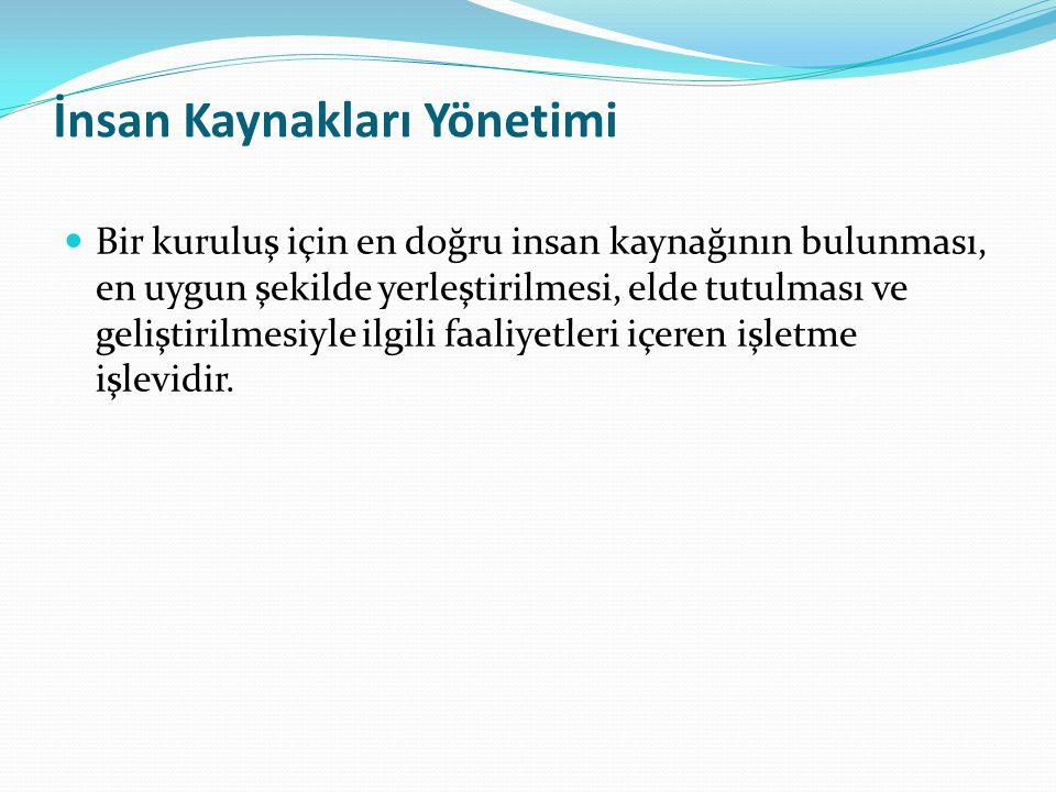 Örgütsel Etkililiğe Katkı Sağlayan İnsan Kaynakları Yönetimi Faaliyetleri 4.