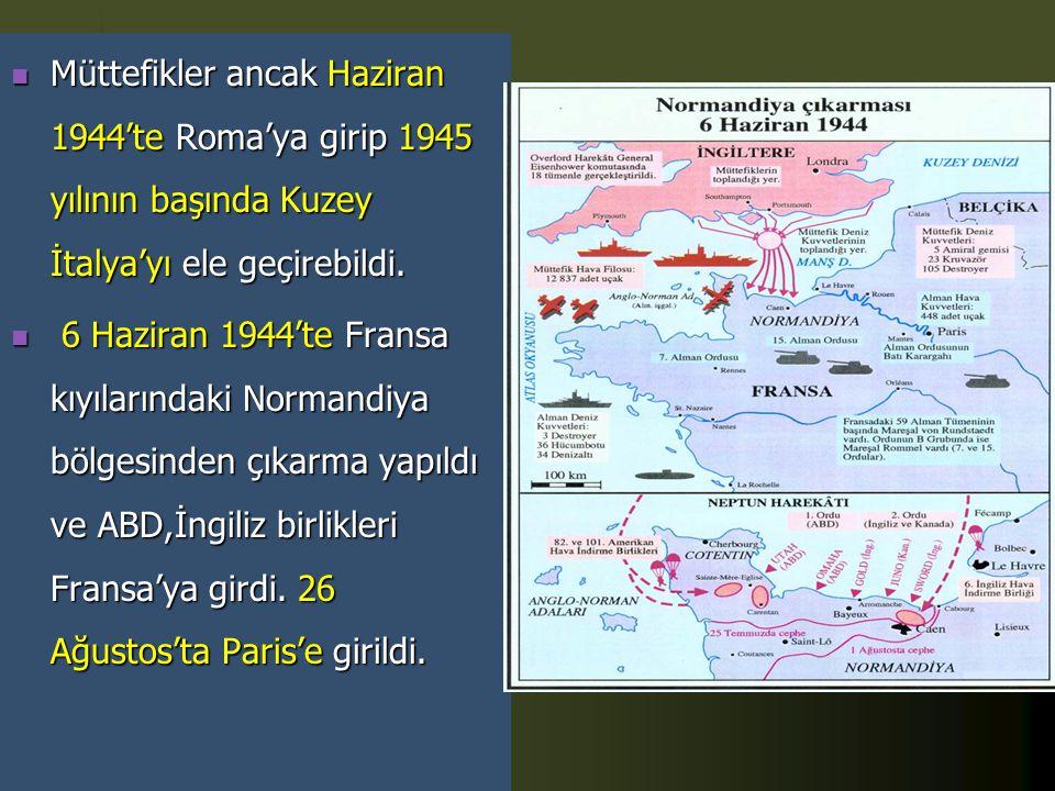  İtalya'yı Kuzey Afrika'dan atan müttefik devletler Avrupa'ya yöneldiler ve Sicilya'ya hava saldırısı yapıldıktan sonra denizden çıkarma yapıldı. İta