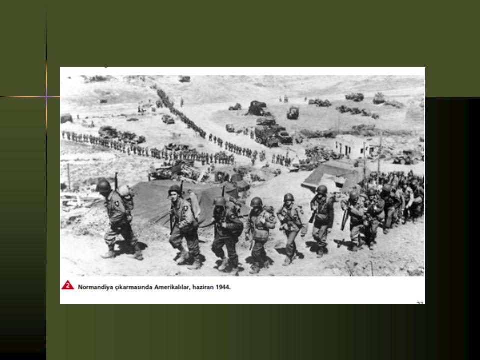  Müttefikler ancak Haziran 1944'te Roma'ya girip 1945 yılının başında Kuzey İtalya'yı ele geçirebildi.  6 Haziran 1944'te Fransa kıyılarındaki Norma
