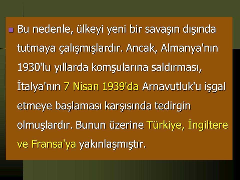 E- Savaş Yıllarında Türkiye  Genç Türkiye'nin yöneticileri, Osmanlı İmparatorluğu'nun Birinci Dünya Savaşı'na sürüklenerek nasıl ortadan kalktığını,