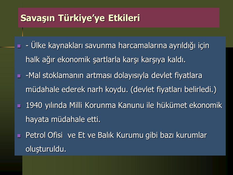  Türkiye, savaşın Almanya'nın aleyhine gelişmeye başladığı dönemde 2 Ağustos 1944'te Almanya ile siyasal ilişkilerini kesmiştir. 23 Şubat 1945'te de