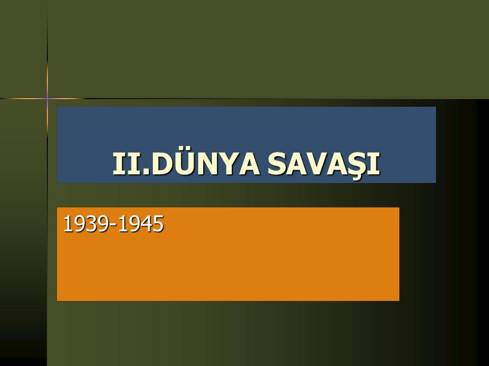  19 Ekim 1939 da Türkiye, İngiltere ve Fransa, Ankara da karşılıklı yardım antlaşması imzalamıştır.