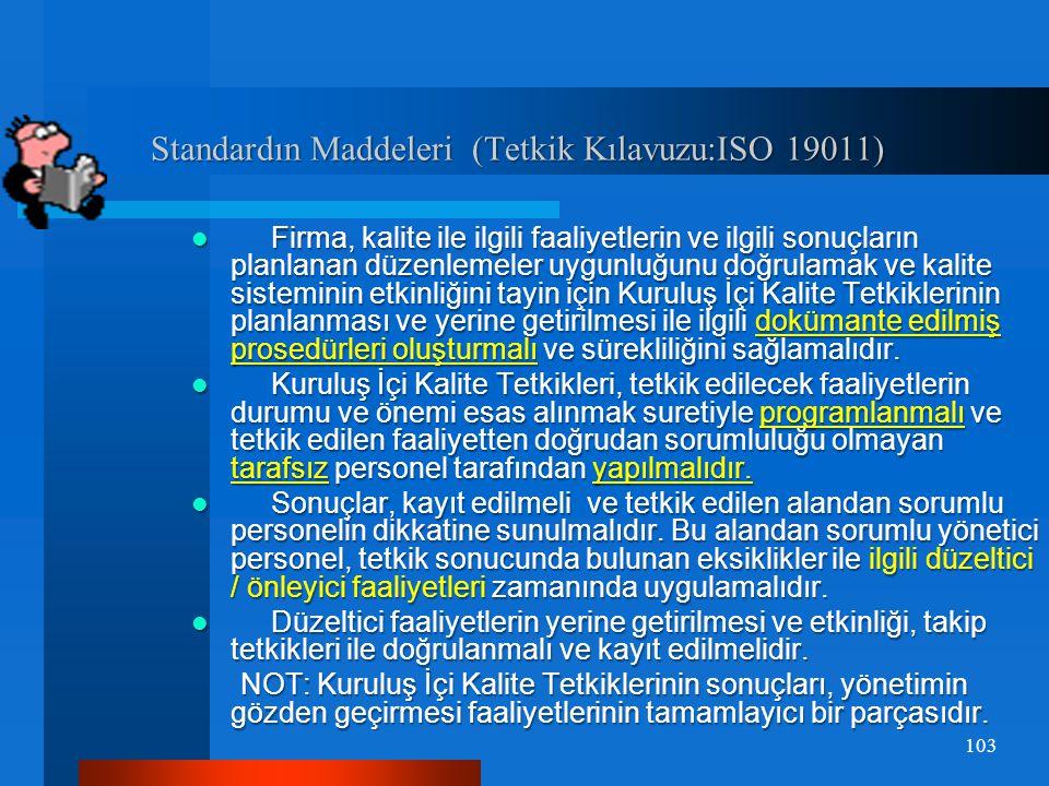 Kuruluş İçi Denetim Çeşitleri Kuruluş İçi Denetim Çeşitleri  Kalite Sisteminin Denetlenmesi Kalite yönetiminin uygulanması için gerekli olan kuruluş