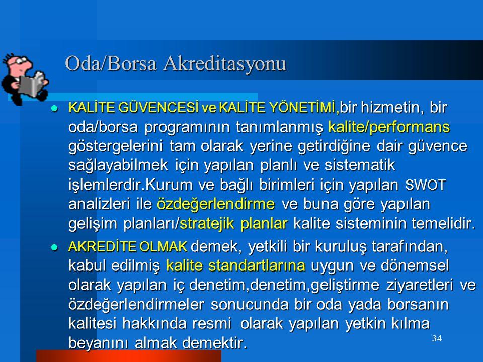 TOBB/ODA/BORSA ve Akreditasyon TOBB/ODA/BORSA ve Akreditasyon Yetkili bir kuruluşun 'Eurochambers, İngiltere Odalar Birliği'nin'; diğer bir organizasy