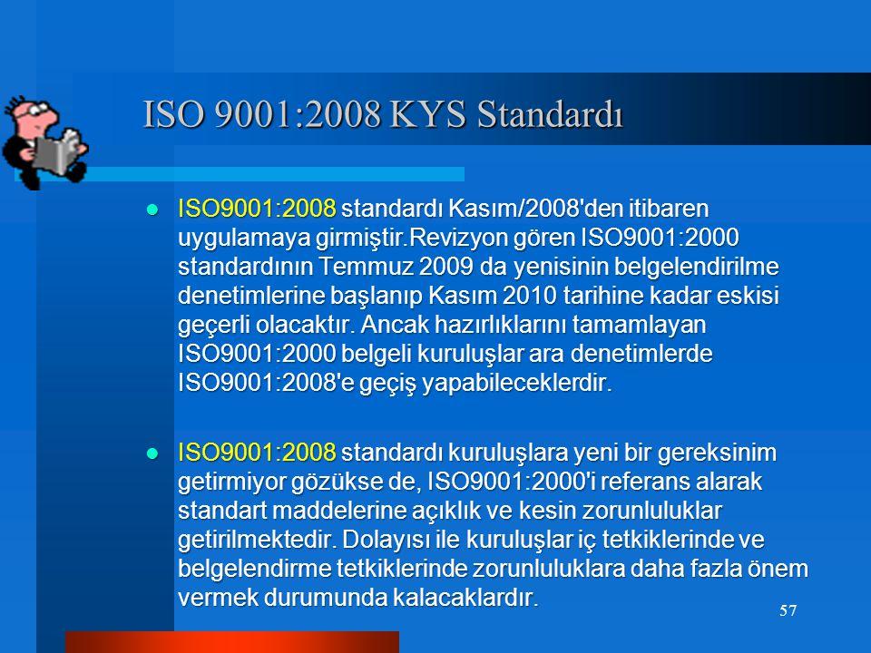 ISO 9001 Standardının Şartları ISO 9001 Standardının Şartları 16.