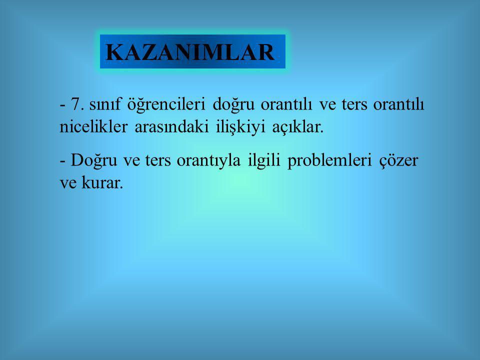KAZANIMLAR - 7.