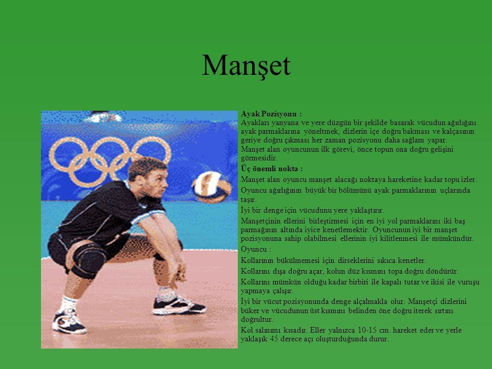 Manşet •Ayak Pozisyonu : Ayakları yanyana ve yere düzgün bir şekilde basarak vücudun ağırlığını ayak parmaklarına yöneltmek, dizlerin içe doğru bakmas