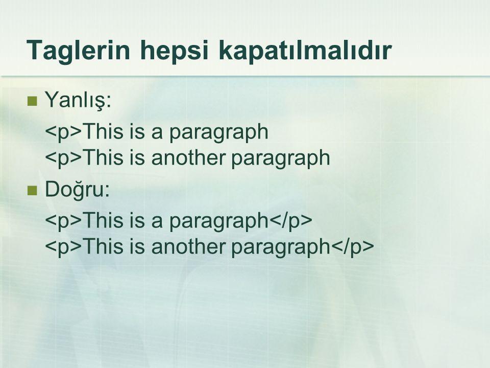 Document Type Definitions (DTD)  DTD bir web sayfasının yazım kurallarını belirtmektedir.