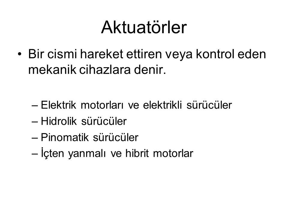 Elektrikli aktuatörler •Elektriksel enerji mekanik enerjiye dönüştürülür.