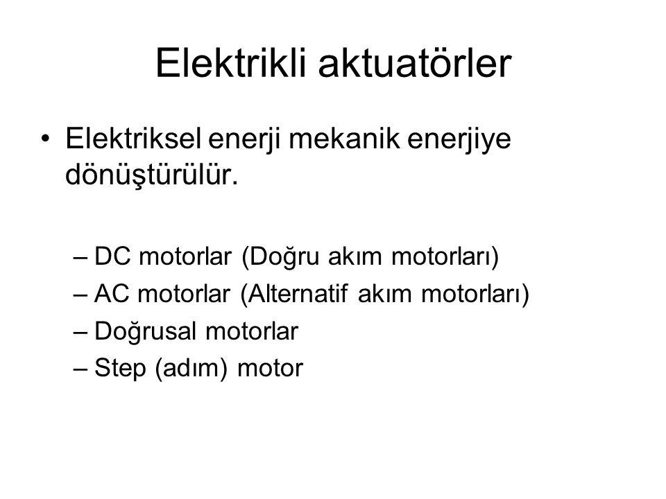 DC motorlar •Dönel aktuatörlerdir.•Güç aralığı 1 W -100 kW dır.