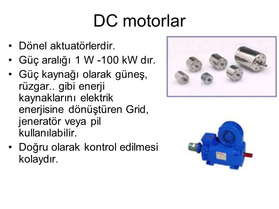 AC motorlar •Tek veya 3 fazlıdırlar.