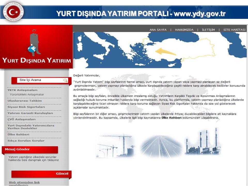 68 YURT DIŞINDA YATIRIM PORTALI - www.ydy.gov.tr