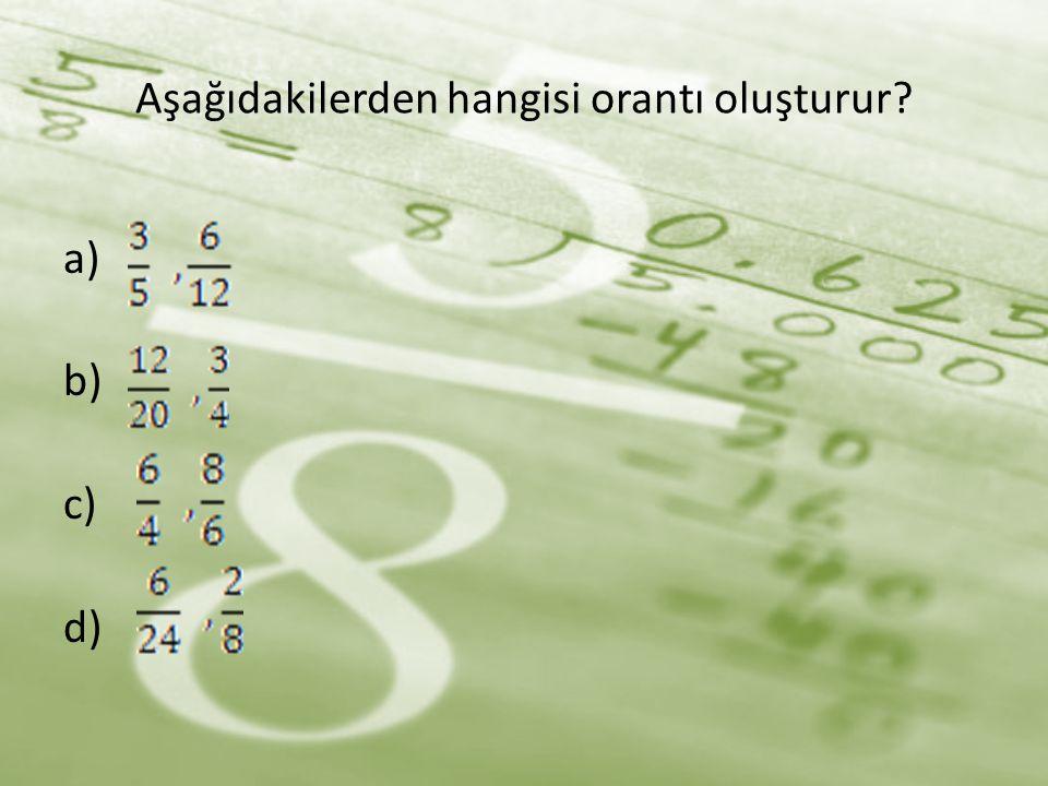 Orantıda terimlerin çapraz çarpımı birbirlerin eşittir. 1. X = 6. 80 x = 480km
