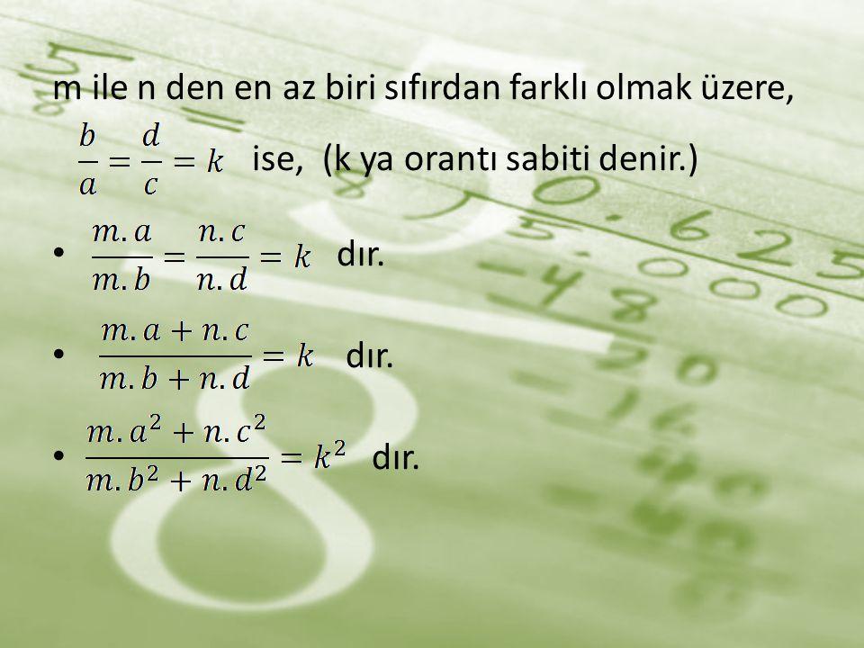 Aşağıdakilerden hangisi orantı oluşturur? a) b) c) d)