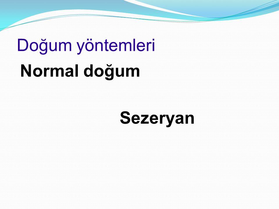 Doğum yöntemleri Normal doğum Sezeryan