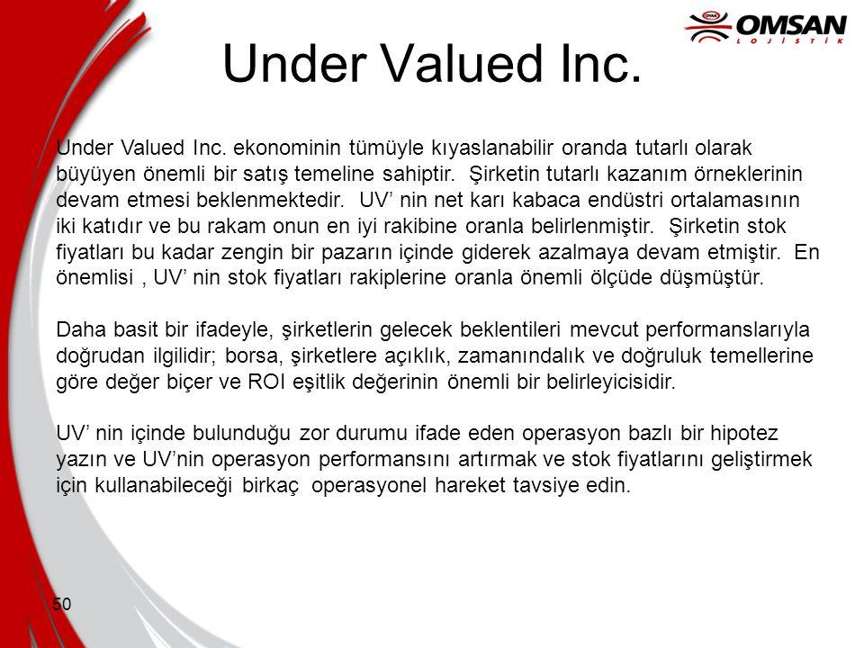 49 Yatırım Geri Dönüşü (ROI) •Temel karlılık ölçütü •Kar işletilen sermaye tarafından 'standartlaştırılır' •Finansal çekicilik ölçütü •Fırsatlar yoluy