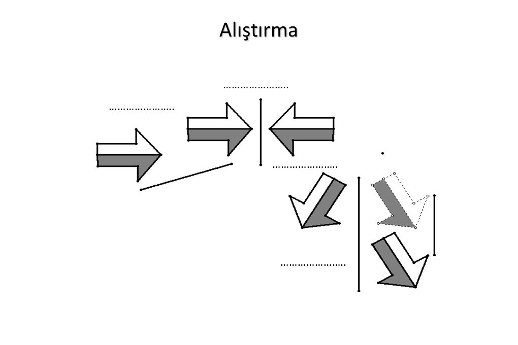 Temel geometrik çizimler 7 7) Verilen bir üçgenin iç teğet çemberini çizme