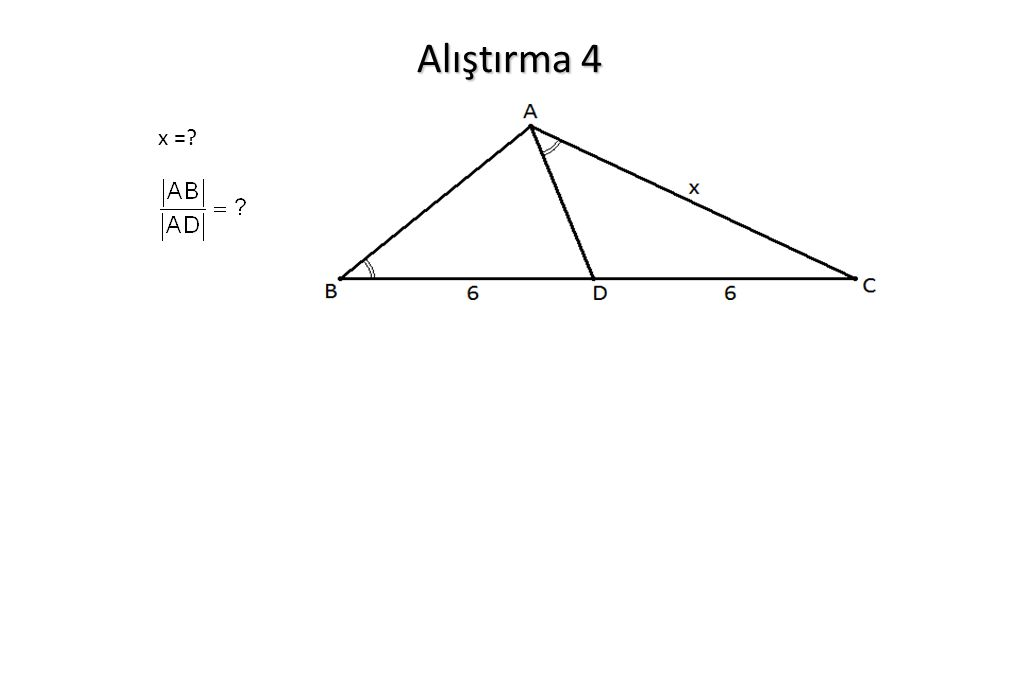 Alıştırma 4 x =?