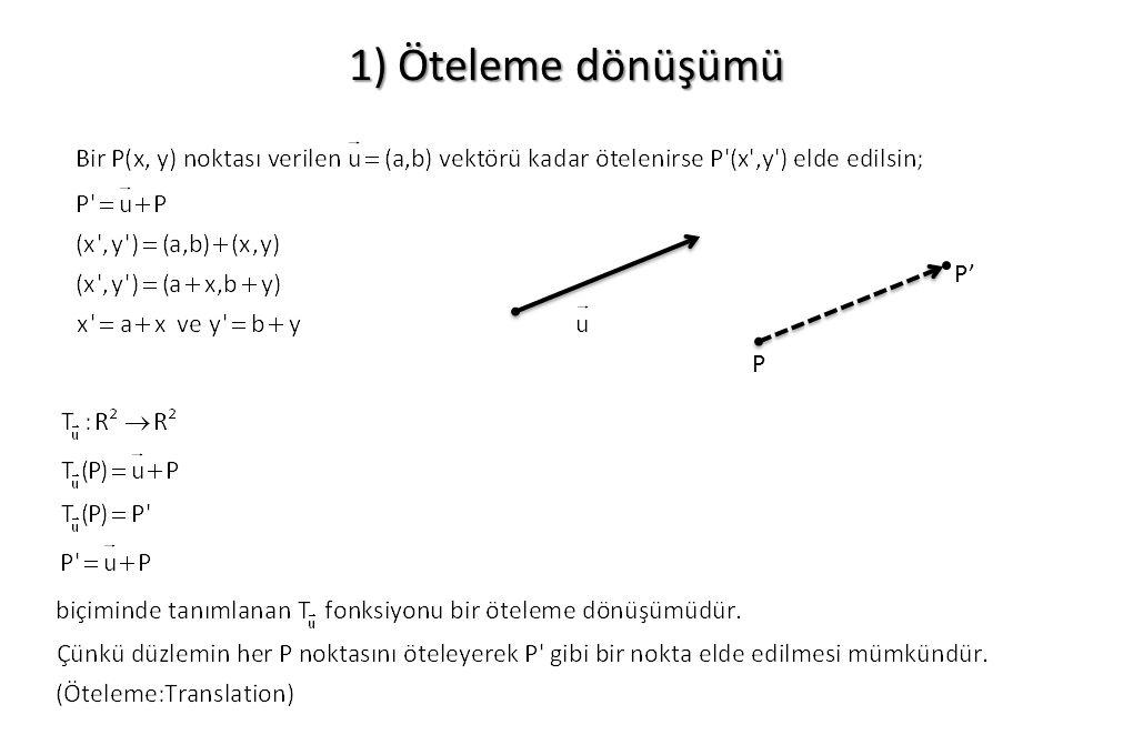 1) Öteleme dönüşümü P P'