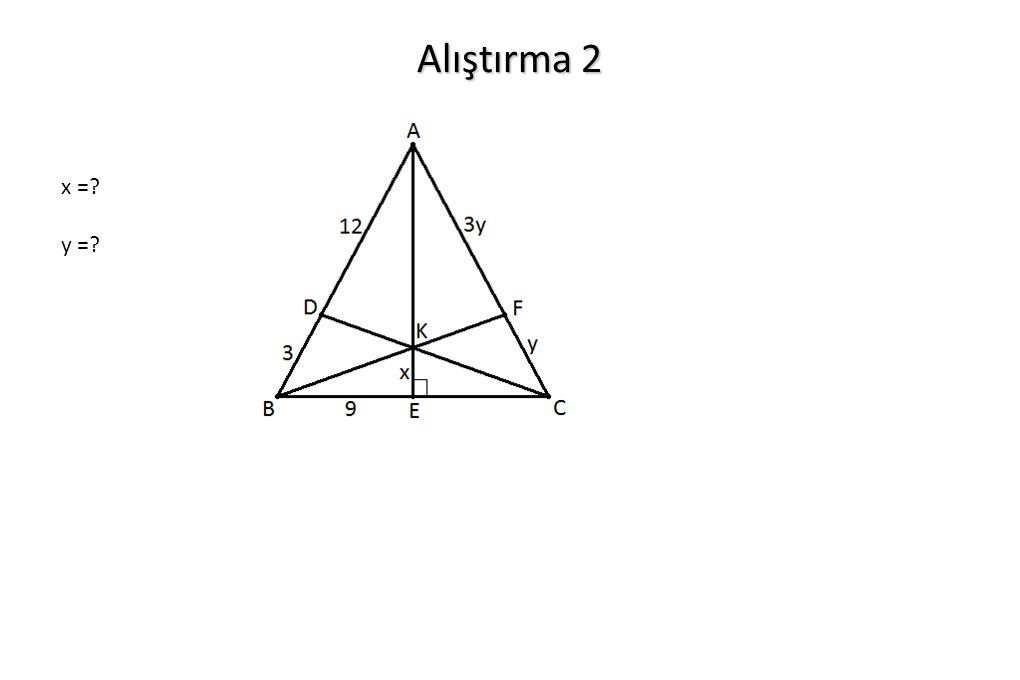 Alıştırma 2 x =? y =?