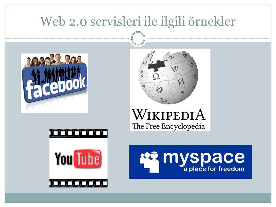 WEB 2.0'ın temelindeki fikirler  Ağ etkisi (Network effects )  Ortak akıl ( Collective intelligence )  Topluluğun bireyden bilge olması ( Wisdom of crowds)  Bireysel üretim (individual generation)