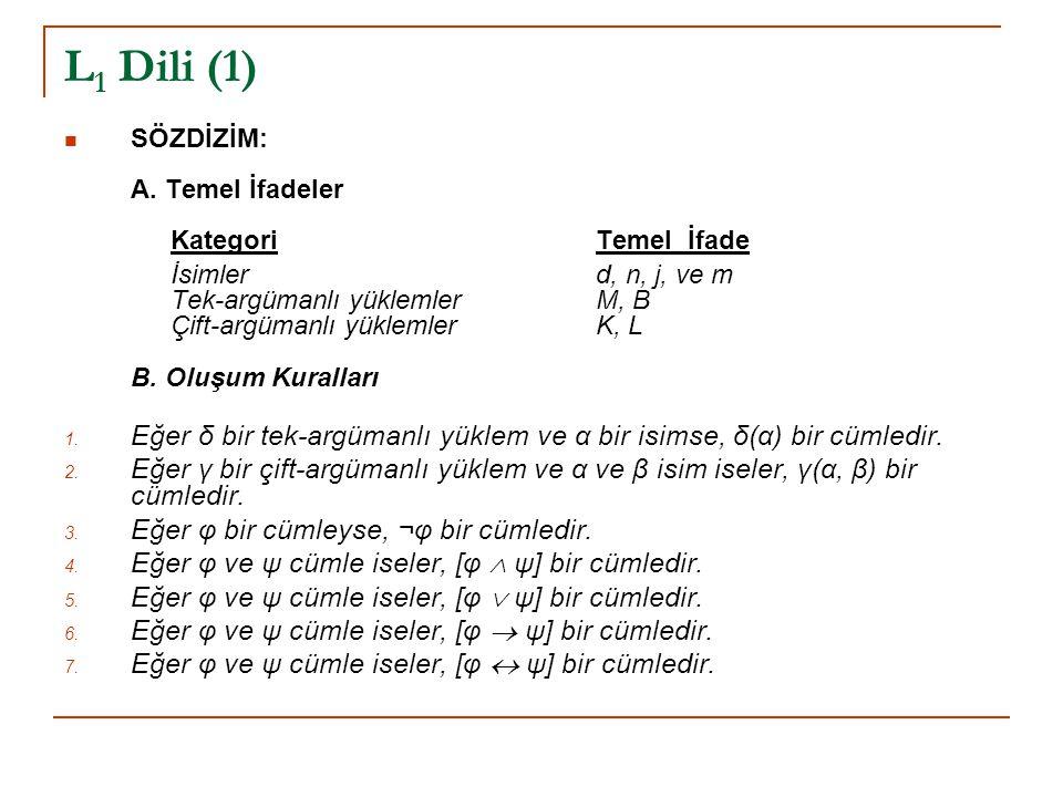 L 1 Dili (2)  SEMANTİK: A.