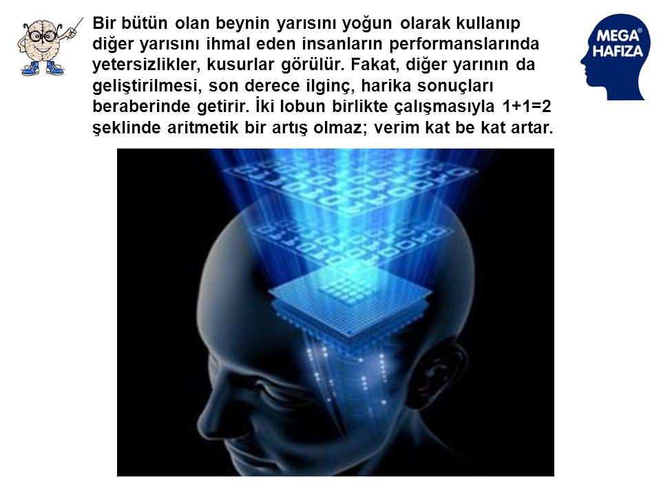 Beynimizin sağ yarısı daha çok duygusal algılamalar ve görüntülerle çalıştığında bu bölümde olanları her zaman bilinçli olarak açıklamayız ve tanımlam